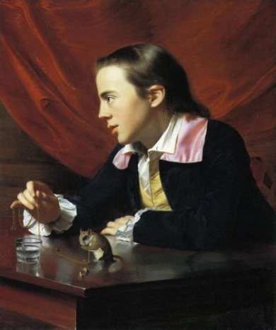 Boy with a Squirrel - John Singleton Copley Oil Painting