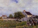 An Old Cottage at Sablons - Alfred Sisley Oil Painting