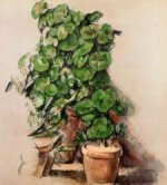 Pots of Geraniums - Paul Cezanne Oil Painting