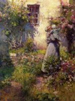Peasant's Garden - Robert Vonnoh Oil Painting