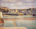 Port-en-Bessin, The Outer Harbor, Low Tide - Georges Seurat Oil Painting