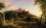 The Departure - Thomas Cole Oil Painting