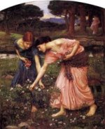 Gather Ye Rosebuds While Ye May - Oil Painting Reproduction On Canvas