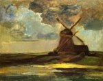 Windmill in the Gein - Oil Painting Reproduction On Canvas
