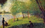 Study with Figures - Georges Seurat Oil Painting