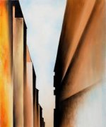 Street New York I, 1926 - Georgia O'Keeffe Oil Painting