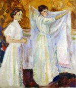 Two Nurses - Oil Painting Reproduction On Canvas