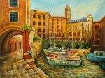 Path Near Boats - Oil Painting Reproduction On Canvas