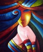 beauty-women-home-decoration-Modern-Abstract-oil-painting-on-canvas