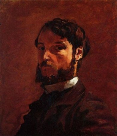 Portrait of a Man - Jean Frederic Bazille Oil Painting