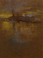 View across the Lagoon - James Abbott McNeill Whistler Oil Painting