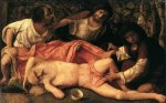 Drunkennes of Noah - Giovanni Bellini Oil Painting