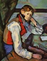 Boy in a Red Vest - Paul Cezanne Oil Painting