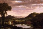 New England Landscape - Frederic Edwin Church Oil Painting
