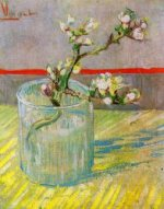 Blossoming Almond Branch in a Glass - Vincent Van Gogh Oil Painting
