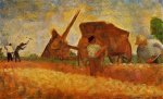 The Stone Breakers - Georges Seurat Oil Painting