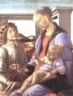 Madonna and Child with an Angel II - Sandro Botticelli oil painting