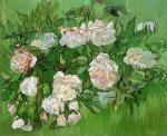 Still Life: Pink Roses - Vincent Van Gogh Oil Painting