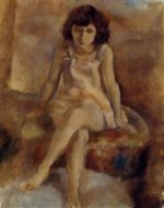 Seated Woman IV - Oil Painting Reproduction On Canvas