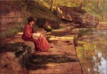 Daisy by the River - Oil Painting Reproduction On Canvas