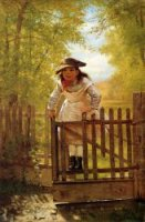 The Tomboy - John George Brown Oil Painting