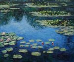 Water Lilies III - Claude Monet Oil Painting