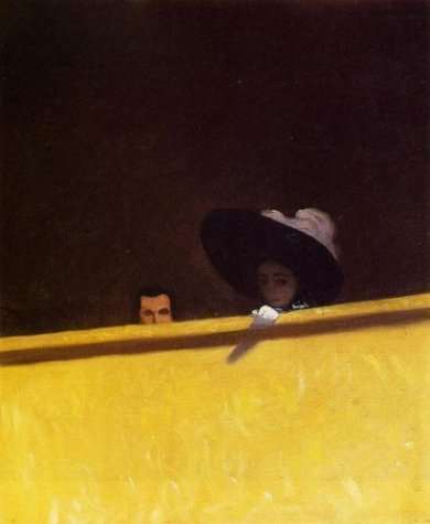 Box Seats at the Theater, the Gentleman and the Lady -Felix Vallotton Oil Painting