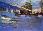 Rapallo-Grauer Day - Oil Painting Reproduction On Canvas