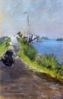 Dutch Canal - William Merritt Chase Oil Painting