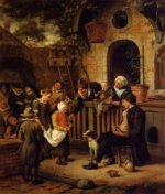 The Little Alms Collector - Jan Steen oil painting