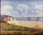 Le Crotoy, Downstream - Georges Seurat Oil Painting