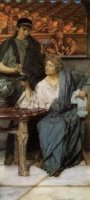 The Roman Wine Tasters - Sir Lawrence Alma-Tadema oil painting