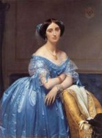 Princesse Albert de Broglie, née Joséphine-Eléonore-Marie-Pauline de Galard de Brassac de Béarn, 1853 - Oil Painting Reproduction On Canvas