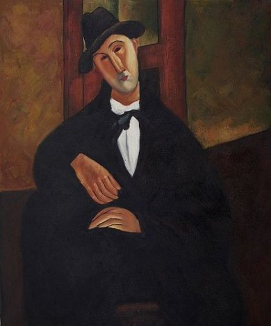 Portrait of Mario Varvogli, 1919-1920 - Amedeo Modigliani Oil Painting