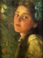 A Wistful Look - Oil Painting Reproduction On Canvas