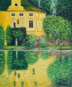 Schloss Kammer on Attersee - Oil Painting Reproduction On Canvas