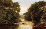 Fishing by a River - William Mason Brown Oil Painting