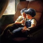 Little Engineers - Donald Zolan Oil Painting