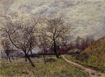 Between Veneux and By-December Morning - Alfred Sisley Oil Painting