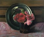 Still Life with Roses - Felix Vallotton Oil Painting