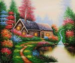 Everett's Cottage - Oil Painting Reproduction On Canvas