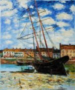 Boat at Low Tide, FeCamp 1881 - Claude Monet oil painting