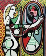 Girl Before a Mirror - Pablo Picasso Oil Painting