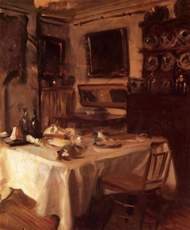 My Dining Room - John Singer Sargent Oil Painting