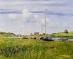 At the Boat Landing - William Merritt Chase Oil Painting