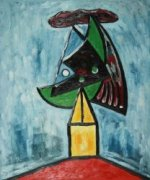 Harlequin (Project for a Monument) - Pablo Picasso Oil Painting