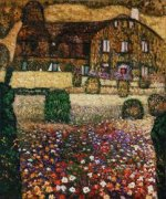 Country House by the Attersee - Gustav Klimt Oil Painting