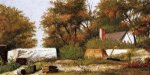 Autumn Scene in the Woods of North Carolina with House and Stacks of Wood - William Aiken Walker Oil Painting