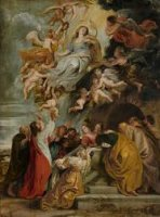 The Assumption of the Virgin - Peter Paul Rubens Oil Painting