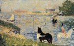 Horses in the Water - Oil Painting Reproduction On Canvas